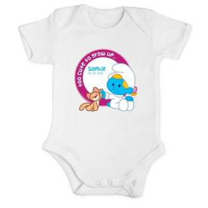 YourSurprise The Smurfs - Baby romper White - Size 62/68