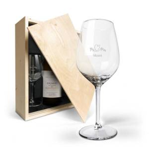 YourSurprise Wine gift set with glass - Salentein Primus Chardonnay - Engraved glass