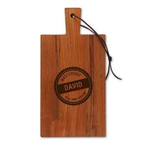 YourSurprise Wooden cheese board - Teak - Rectangle - Portrait (S)