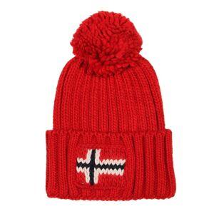 Napapijri Bobble Hat Semiury  - Red  - Red - Size: One Size