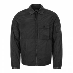 CP Company Zipped Overshirt - Black  - Black - Size: Medium