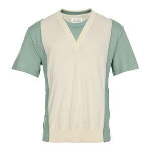 Maison Margiela Pullover - Off White/Green  - White - Size: Medium