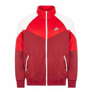 Nike Track Top – Red / Burgundy / White  - Red - Size: Medium