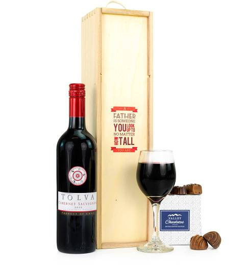 Prestige Hampers Wine and Chocs for Dad Hamper - Gift Basket - Prestige Hampers