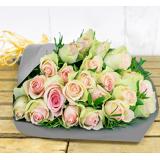 123 Flowers Blush Bouquet Bundle - Flower Gift Bundles - Flower Gifts - Flowers With Chocolate - Flowers With Bear - Flower Delivery