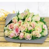 123 Flowers Blush Bouquet Bundle - Flower Gift Bundles - Flower Gifts - Flowers With Chocolate - Flowers With Bear - Flower Delivery