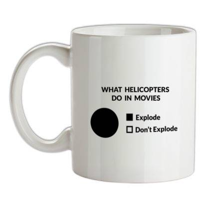 CharGrilled What Helicopters Do In Movies female t-shirt.