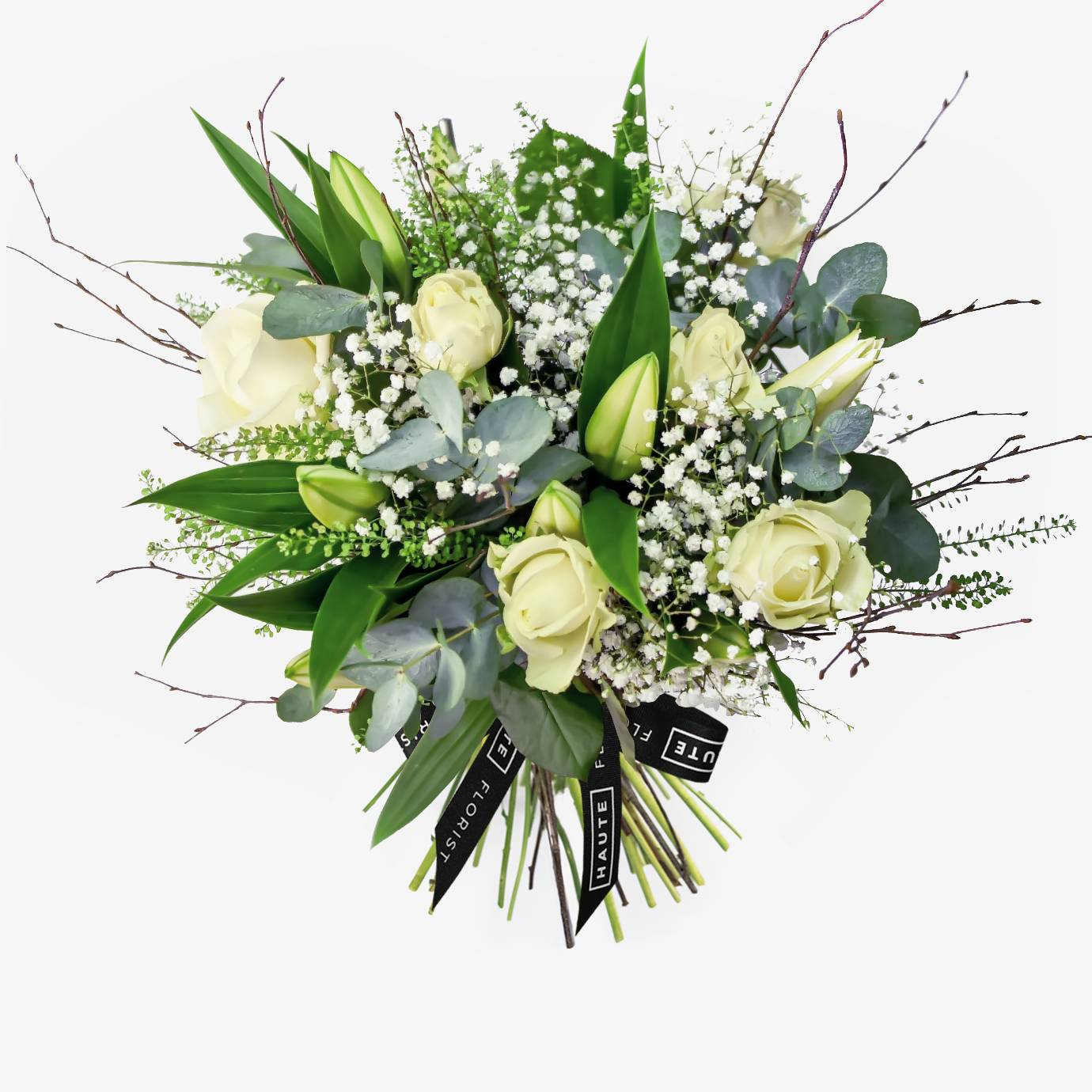 Haute Florist Purity - Flower Delivery - Sympathy Flowers - Next Day Flowers - Luxury Flowers - Luxury Flower Delivery