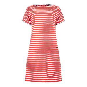 Weird Fish Etta Striped Jersey Dress Radical Red Size 10