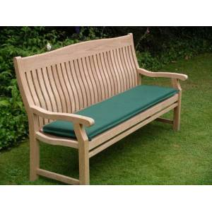 110cm Bench Cushion - Forest Green    1.2m Bench