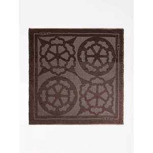 Guess Peony Logo Scarf  - Brown