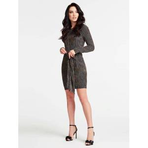 Guess Marciano Striped Dress  - Black