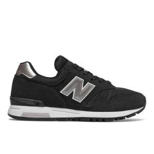 New Balance UK New Balance 565 Shoes - Black/Metallic Silver/White (Size UK 7.5)