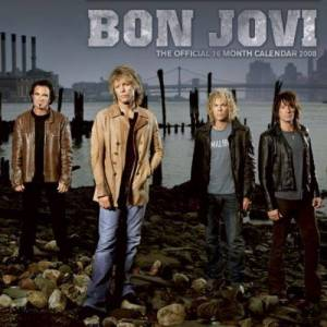Bon Jovi Official Calendar 2008 2008 UK calendar C10403