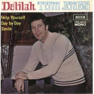 "Tom Jones Delilah 1968 Hong Kong 7"" vinyl DFE4016"