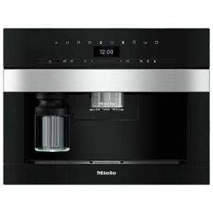 Miele CVA7445 Fully Automatic Coffee Machine Plumbed In - STAINLESS STEEL
