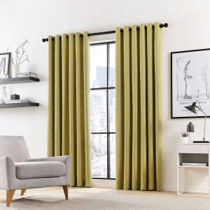 """DKNY Madison Lined Curtains 66"""" x 72"""", Fennel"""