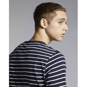 Bellfield Clothing Bellfield Daniova Stripe Long Sleeve Mens T-Shirt   Navy/Off White, Extra Large
