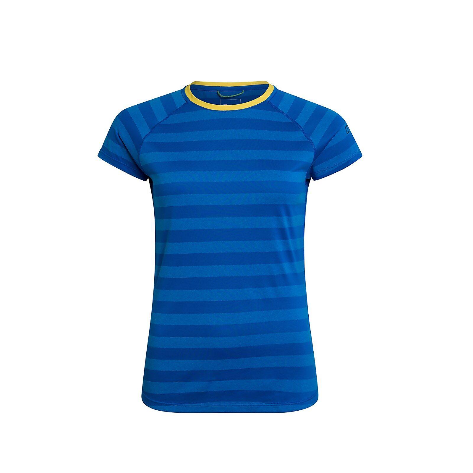Berghaus Women's Stripe Tech Tee 2.0 - Blue - 16  - Size: 16
