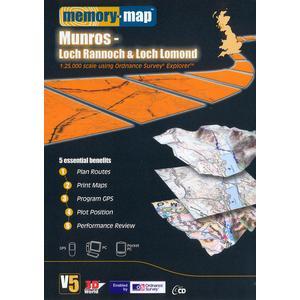 Memory Map Explorer Loch Rannoch and Loch Lomond CD ROM, Multi/ASSO  - Multi/ASSO - Size: One Size