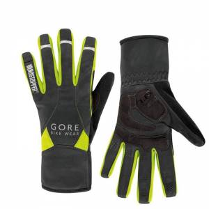 GORE WEAR Universal WS Mid Winter Gloves, black-neon yellow Winter Cycling Glove