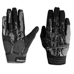 ROECKL Minaya Full Finger Gloves, black-grey Cycling Gloves, for men, size 7,5,