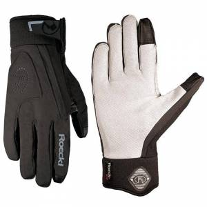ROECKL Rola Winter Gloves, black Winter Cycling Gloves, for men, size 6,5, MTB g