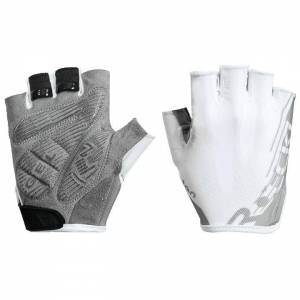 ROECKL Ilova Gloves Cycling Gloves, for men, size 8, Cycle gloves, Cycle clothes  - white/silver