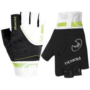 ROECKL Bergamo black-white-lime Cycling Gloves, for men, size 10,5, Bike gloves,