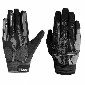 ROECKL Minaya Full Finger Gloves, black-grey Cycling Gloves, for men, size 7, Cy