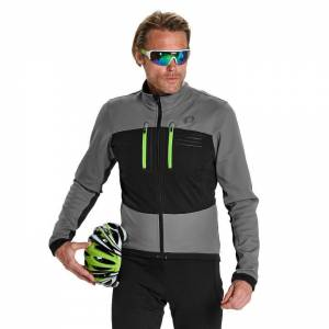 PEARL IZUMI Elite Escape Softshell Winter Jacket, grey-black Thermal Jacket, for