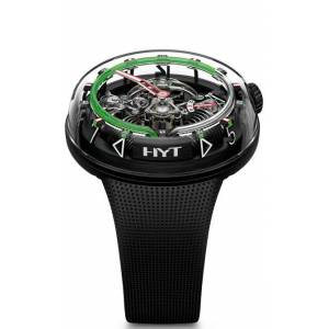 HYT Watches H2.0 Black DLC Green Fluid Limited Edition