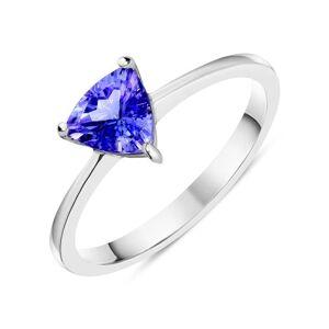 C W Sellors Precious Gemstones 18ct White Gold 0.73ct Tanzanite Trillion Solitaire Ring