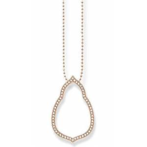 Thomas Sabo Glam And Soul Rose Gold Fatima's Garden Necklace 60cm D