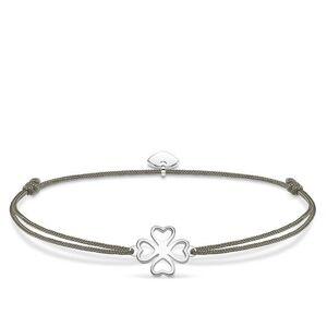 Thomas Sabo Little Secrets Sterling Silver Grey Clover Bracelet