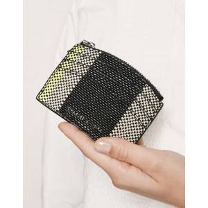 Jacquard Multi-Slot Zip Card Holder - Multi