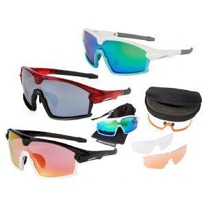 Madison Code Breaker Glasses 3 Lens Pack   - Gloss Black / Gloss White Frame/ Pink Orange Mirror Amber Clear Lenses
