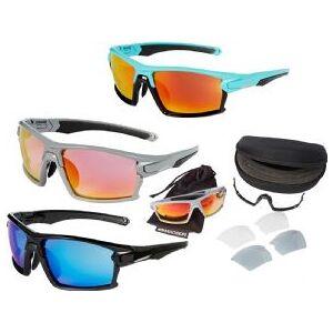 Madison Engage Glasses 3 Lens Pack   - Gloss Cloud Grey Frame/ Pink Orange Mirror Smoke Clear Lenses