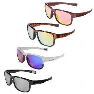 Madison Range Glasses   - Gloss Burgundy / Matt Black/ Pink Orange Mirror