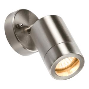 KnightsBridge Adjustable IP65 Lightweight Stainless Steel Indoor Outdoor Single Wall Light
