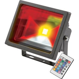 KnightsBridge IP65 Adjustable Low Energy LED Security RGB FloodLight Black Aluminium - 10 Watt