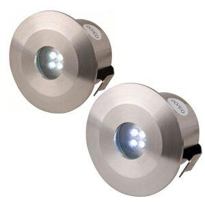 KnightsBridge IP44 Stainless Steel LED Decking Kit - 4 Pack - Blue