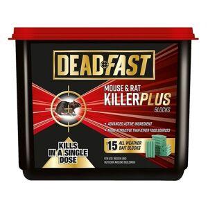 Deadfast Mouse and Rat Killer Plus Poison, 15 Block