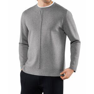 FALKE Men Pullover Round-neck, S, Grey, Block colour