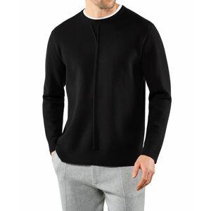 FALKE Men Pullover Round-neck, L, Black, Block colour
