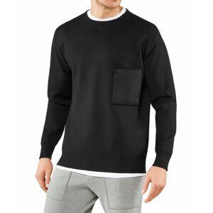FALKE Men Pullover Round-neck, M, Black, Block colour