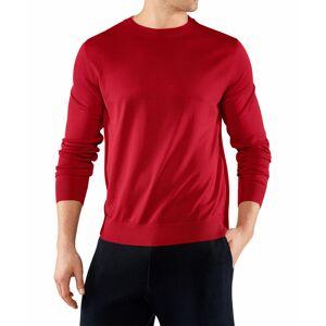 FALKE Men Longsleeved Shirt, L, Red, Cotton  - Red - Size: Large