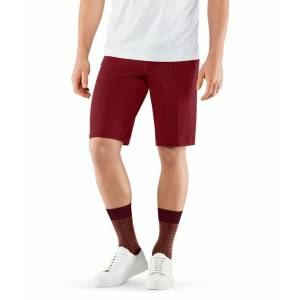 FALKE Men Shorts, M, Red, Block colour, Cotton  - Red - Size: Medium