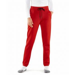 FALKE Women Pants, XL, Red, Block colour, Cotton  - Red - Size: Extra Large