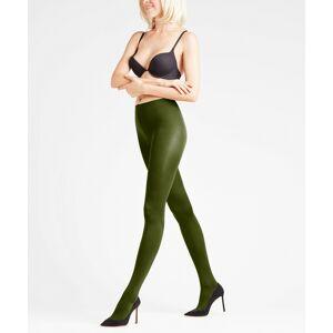 FALKE Seidenglatt 80 DEN Women Tights, S-M, Green, Block colour